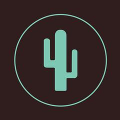 Cactus icon isolated. Vector illustration. Flat design.