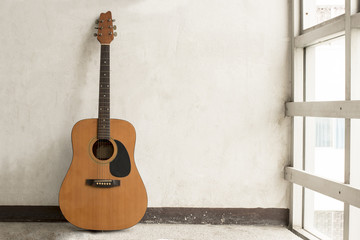 Guitar near window