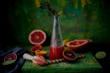 Fresh juice from citrus fruit