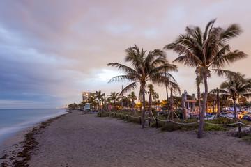 Dania beach in Hollywood, Florida
