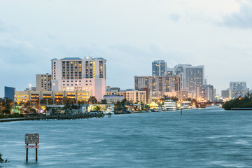 Wall Mural - Hollywood Beach skyline, Florida