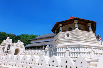Temple of the Tooth Buddha in Kandy Sri Lanka