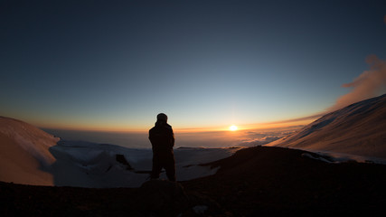 Tramonto sul vulcano Etna