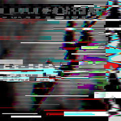 Glitch psychedelic background. Old TV screen error. Digital pixel noise abstract design. Computer bug. Television signal fail. Technical problem grunge wallpaper. Colorful noise