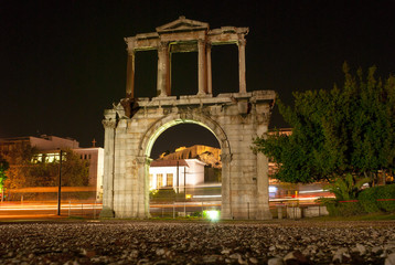 The Arch of Hadrian is the Roman Triumphal Arch in Athens, Greece