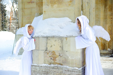 Two white angels