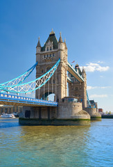 Wall Mural - Tower Bridge on a bright sunny day in Spring, London, UK