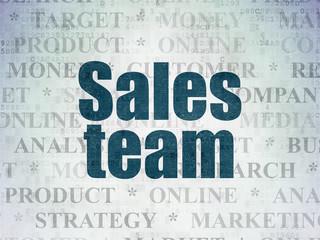 Advertising concept: Sales Team on Digital Data Paper background