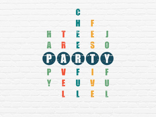 Holiday concept: Party in Crossword Puzzle
