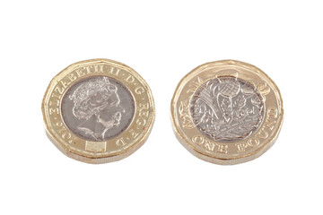 British new £1 pound coin.