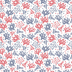 Cute background. Seamless floral pattern