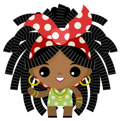 jamaican rasta dreadlocks tiny cute girl