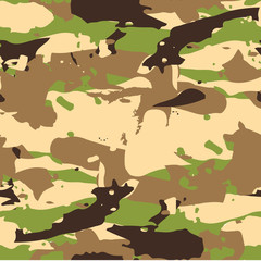 Classic Seamless Military Forest Camouflage Pattern Background Vector