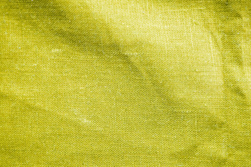 Yellow fabric texture abstract background.