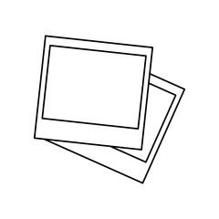 Blank instant photos icon vector illustration graphic design