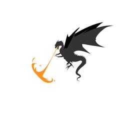 Dragon fire monsters design vector