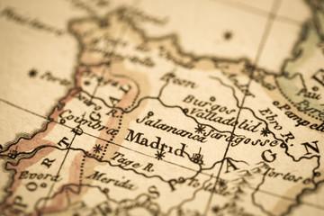 アンティークの世界地図 マドリッド