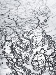 アンティークの世界地図 東南アジア