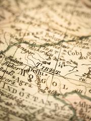 アンティークの世界地図 チベット