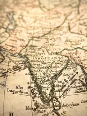 アンティークの世界地図 インド