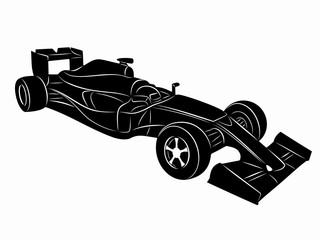 illustration of a formula F1 racer, vector draw