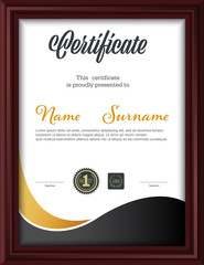 certificate template,letter size diploma, vector illustration