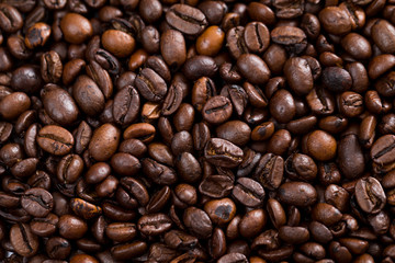 Coffee bean texture