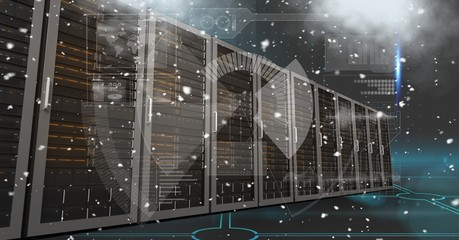 Digital composite image of servers