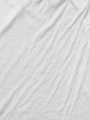 white crumpled fabric cloth texture