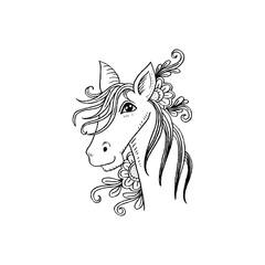 Hand-drawn horse.