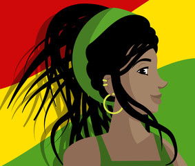 cute beautiful rasta dreadlocks girl