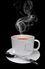 steaming tea 3D rendering