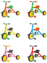 三輪車 カラーバリエーション