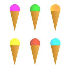 Eis in verschiedenen Farben