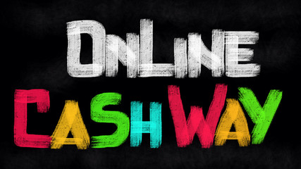 Online cash way concept