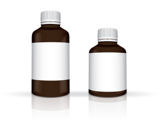 pills for your design easily change the color of the jar EPS10 Vector Mock up