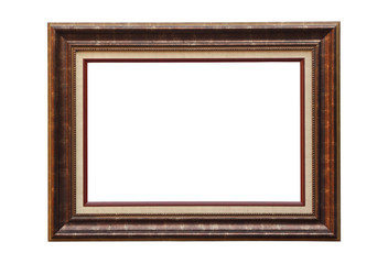 Picture frame made of teak wood,isolated with clipping path.