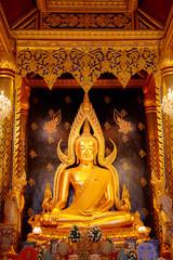 Phra Phuttha Chinnarat Buddha Image at Wat Phra Si Rattana Mahathat Temple, Phitsanulok, Thailand