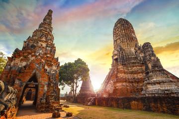 Wat Chaiwatthanaram temple in Ayuthaya Historical Park, a UNESCO world heritage site in ThailandHistorical Park, a UNESCO world heritage site