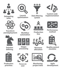 Product management icons