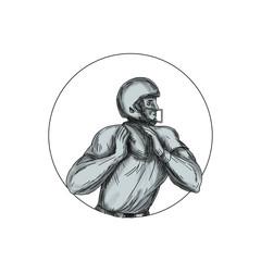 Quarterback QB Throwing Football Tattoo