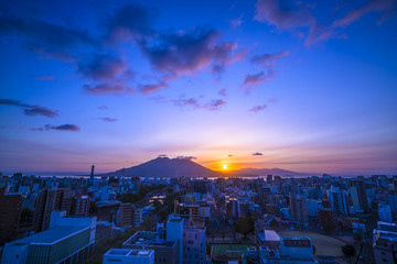 桜島からの日の出