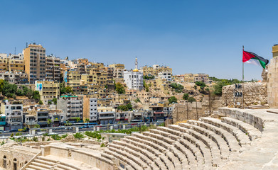 View of Amman from Roman Theater