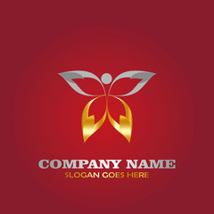 Butterfly luxury logo