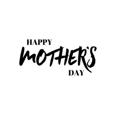 lettering and calligraphy modern - Mother's day. Sticker, stamp, logo - hand made