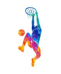basketball player, ball