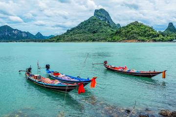 Long tail boat on Koh Phangan, Thailand.