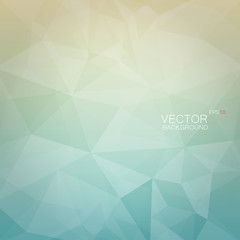 Abstract vector polygonal background in light colors