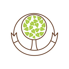 tree organic food emblem image vector illustration eps 10