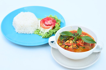Spicy curry with rice